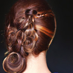 Back of wedding hairstyle